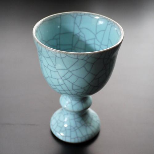 ・桃崎陶房◆日本工芸会準会員 桃崎孝美◆青瓷ワインカップ  画像を拡大する  漆器の通販◆モダン